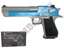 Desert Eagle 50AE Official Model Gas Blowback Airsoft BB Gun 2 Tone Blue Silver Full Metal